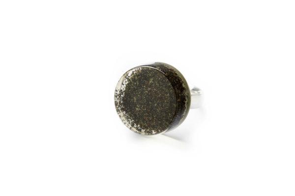 grassgrün Schmuck Gießharz Silber Serie eyjafjällajökull Ring