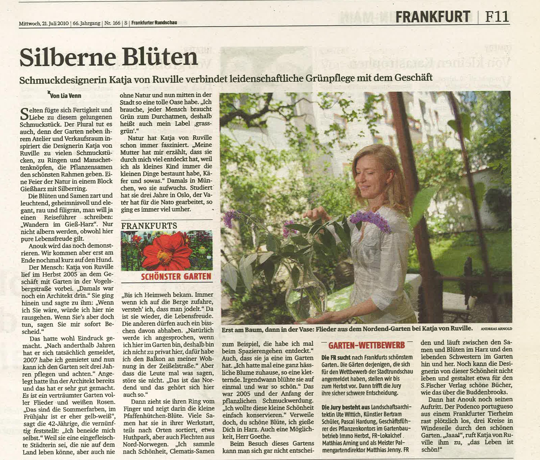 vonRuville_Presse_2010-07_Schmuck_Frankfurter_Rundschau