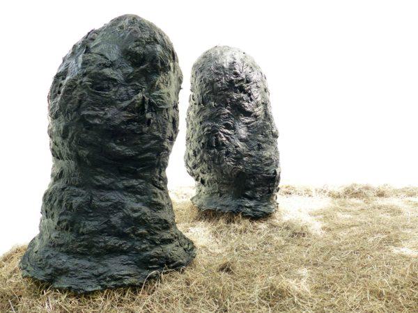 Kunst sorg II installation studie Huizen Heu Seetang