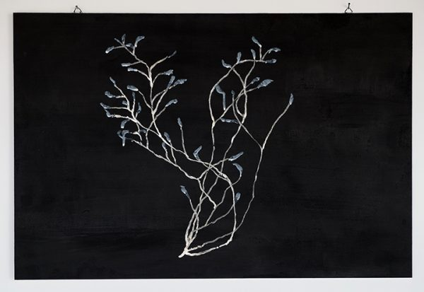 Kunst Naturstudie Moosgras Acryl Pigmente Dispersionsbinder Holz